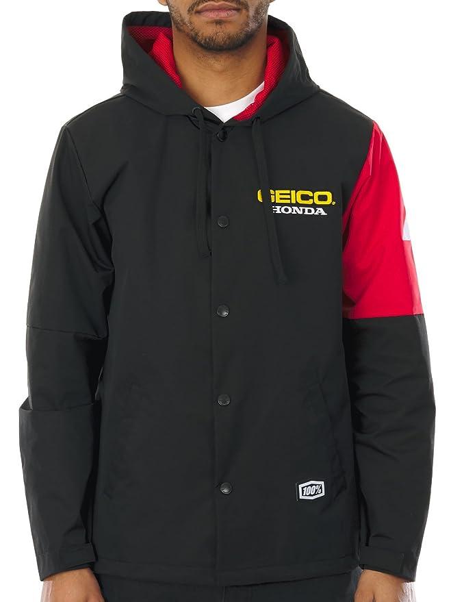 Chaqueta 100 Percent Honda Geico Flux Negro (M , Negro): Amazon.es: Coche y moto