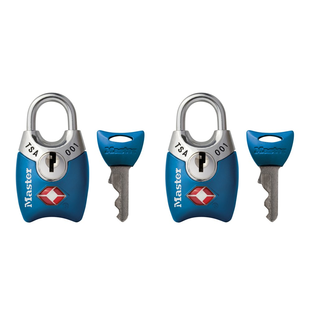 Master Lock Padlock, Keyed TSA-Accepted Luggage Lock, 1 in. Wide, Assorted Colors,  4689T (Pack of 2) by Master Lock (Image #3)