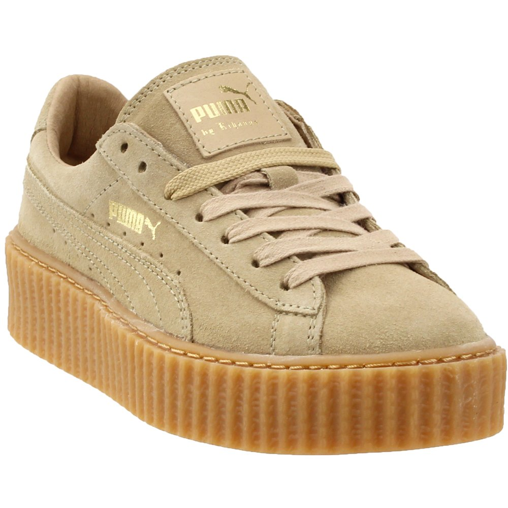 PUMA Women's x Rihanna Creeper Sneakers B0126JUOXU 10.5 B(M) US|Brown