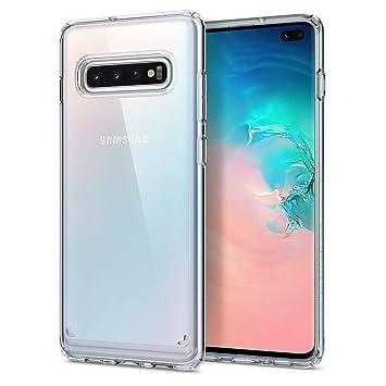 Spigen Compatible con Samsung Galaxy S10 Plus/ S10+ Funda Ultra Hybrid con Tecnología de cojín de Aire y protección híbrida de la caída - Transparente