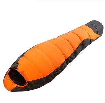 Yy.f Momia Saco De Dormir Compacto Ligero Senderismo Adulto Bolsa De Dormir Impermeable Con Capucha,Orange-210*80*55cm: Amazon.es: Deportes y aire libre