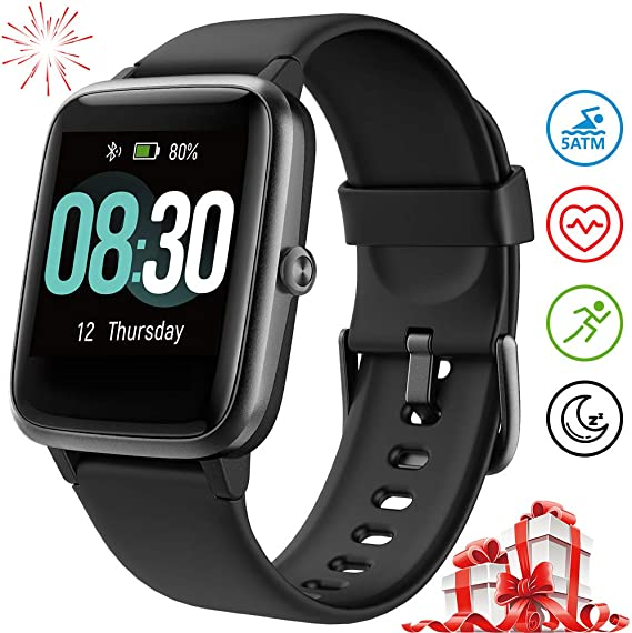 UMIDIGI Smart Watch Fitness Tracker Uwatch3, Smart Watch for Android Phone, Activity Tracker with Heart Rate Monitor, 5ATM Waterproof Smartwatch ...
