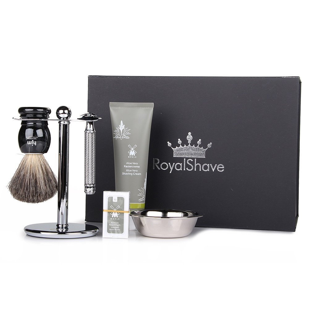 Muhle R89 Closed Comb Safety Razor Set - Complete Wet Shaving Set for Men! by Royal Shave