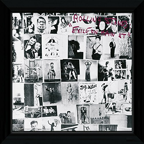 GB Posters The Rolling Stones Exile on Main Street Framed Album Cover