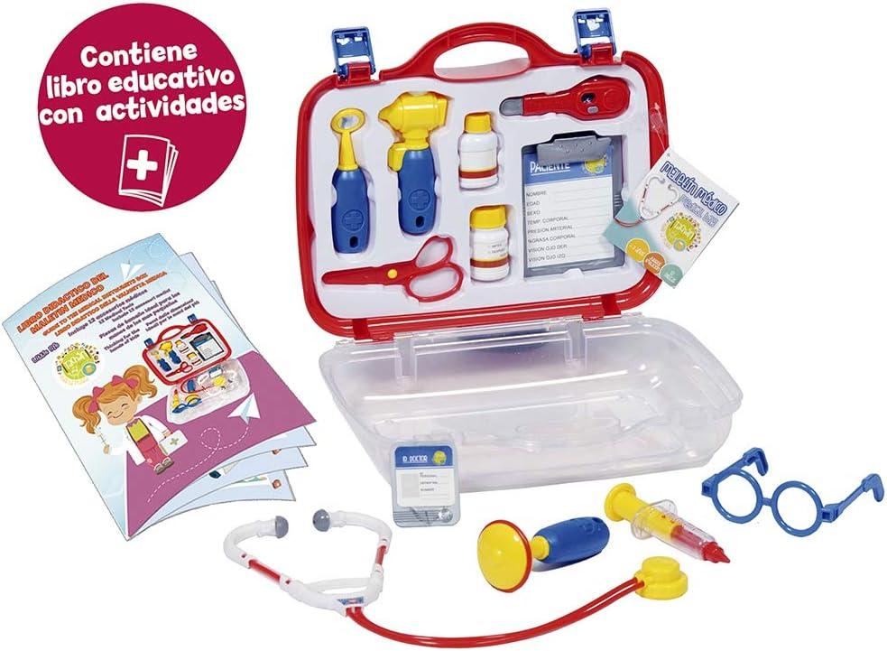 Tachan- Maletín Médico Doctor Deluxe, Color Rojo/Azul (CPA Toy Group 9908)