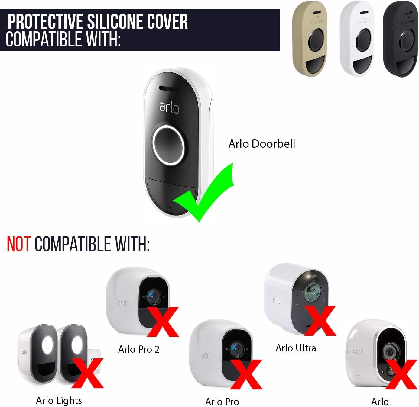Housse de protection en silicone compatible avec la sonnette Arlo Audio Accessoirisez et prot/égez votre sonnette audio beige fonc/é