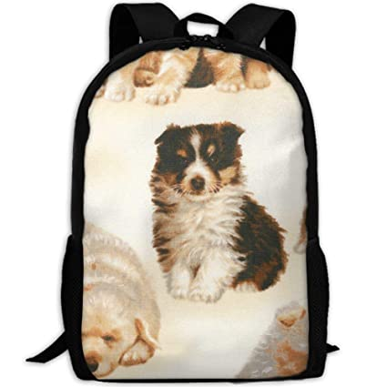 dcefd9bbd3e2 Amazon.com: CRSJBB219 Canvas Whiskers Tails Puppies Laptop Backpack ...