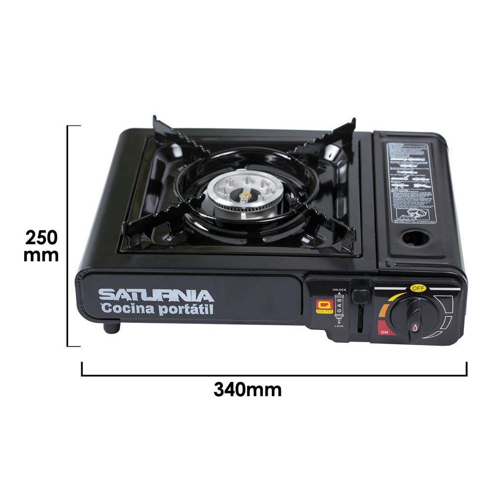 Saturnia 08140120 - Cocina de gas portátil, color negro: Amazon.es ...