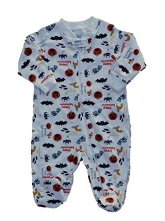 faded glory infant boy girl halloween sleeper pumpkin pajamas baby ghost pj nb