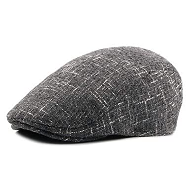 dbcbf3d80a5 Men Autumn Winter Warm Hats Plus Velvet Thicker Berets Male Hat Dad s Hats  Gray