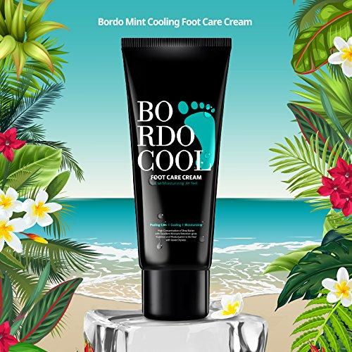 Bordo Mint Cooling Foot Care Cream 2.64oz / 75g Moisturizing & Exfoliating Foot Cream (Cooling Foot Lotion)