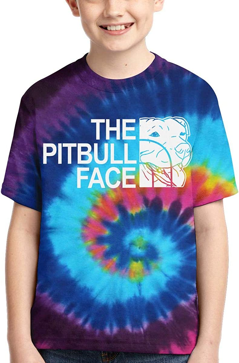 AMODECO The Pitbull Face 3D Printed Tee T-Shirt for Youth Teenager Boys Girls