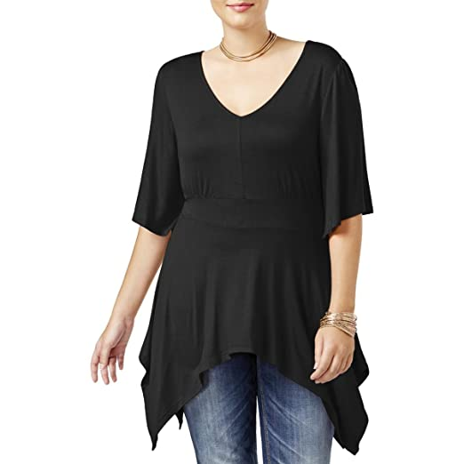 American Rag Women S Trendy Plus Size Handkerchief Hem Top