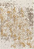 Cheap Super Area Rugs Flat-Woven Rug, Beige/Gold Vintage Distressed Abstract Non-Shed Living Room Carpet, 2′ x 8′ Runner