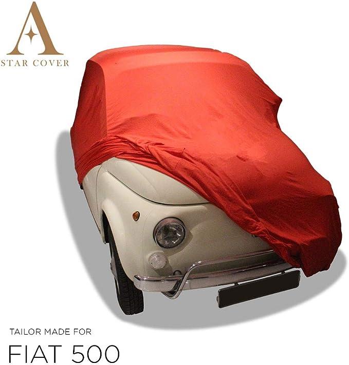 Autoabdeckung Rot Passend FÜr Fiat 500 Ganzgarage Innen SchutzhÜlle Abdeckplane Schutzdecke Cover Auto