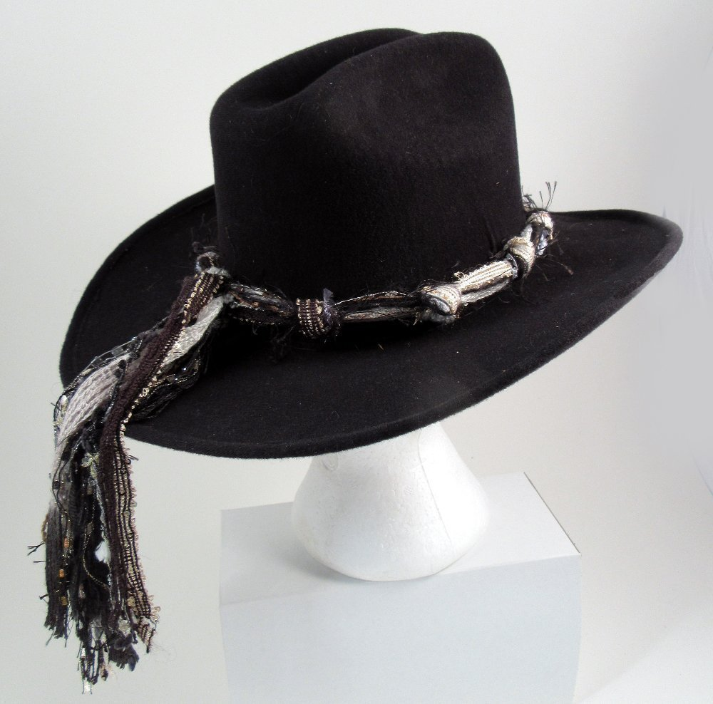 Cowboy Hat Bands, Black White Hat Band, Cowgirl Hat Bands, Western Hat Bands, Adjustable Hat Bands, Hat Band Only (Cowboy Hat Not Included)