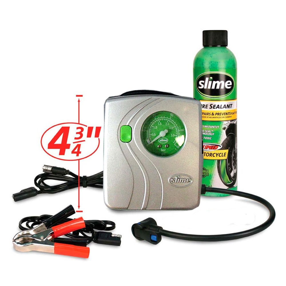 Amazon.com: SLIME MOTO ATV SPAIR Flat Tire REPAIR KIT AIR COMPRESSOR INFLATOR SEALANT AUTO: Office Products