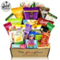 Gluten Free And Vegan Healthy Snacks Care Package 28 Ct Plant Based Snacks Bars Chips Crispy Fruit Nuts Trail Mix Gift Box Sampler Office Variety College Student Care Package Gift Basket