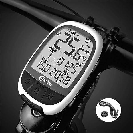 JJJ Bicicleta Computadora Bicicleta Odómetro y velocímetro con ...