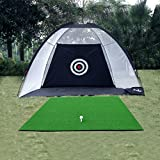 Kofull Golf Practice Net Hitting Game with Driving Mat Practice Driving Indoor and Outdoor Training Aid
