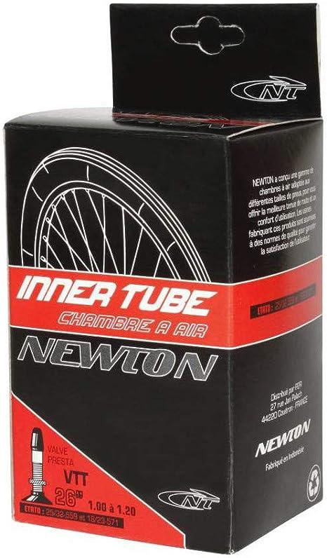 NEWTON - Cámara de Aire para Bicicleta (26 x 1,00-1,20, válvula ...