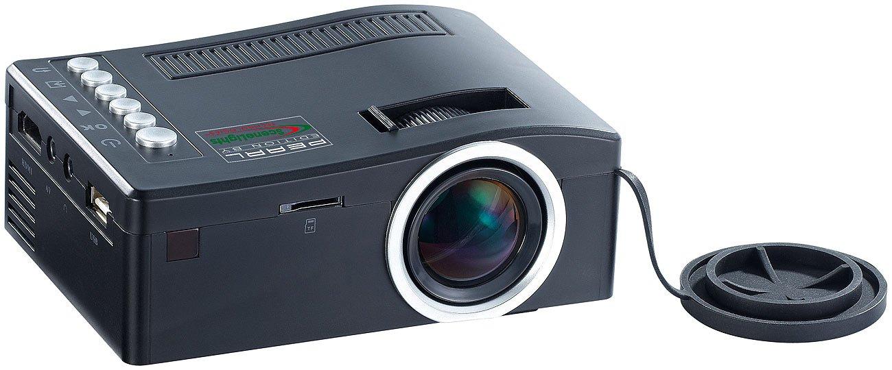 SceneLights LED Beamer: HDMI-LED-Mini-Clipbeamer LB-2500.Mini, 60 Lumen (Mini LED Beamer)