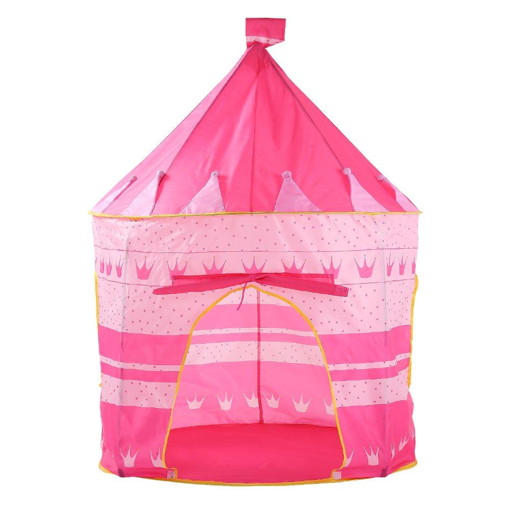 ZMH Bambini Tenda Bambini Giochi Casa Bambino Giocattolo Principessa Castello Bambino Piscina Coperta Ocean Ball, 3 Colori Opzionali