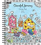 LANG - Adult Coloring Book - ''Cheerful Journey'' - Artwork by Debi Hron - Hardcover - Spiral - Designs for Beginner to Expert - 100 Pages - 9'' x 11''