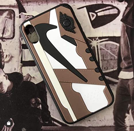 Iphone 3d Aj1 Travis Scott Cactus Jack Shoe Case Official Print Textured Shock Absorbing Protective Sneaker Fashion Case Iphone 78