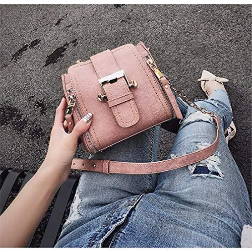 Messenger Fannb Pink Bag New Mini Women Brown Chain Borsa Bucket TTqRxE61