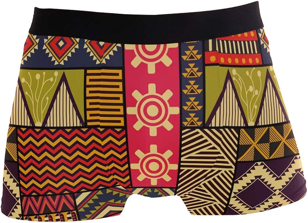 Multi ZZKKO Tribal Ethnic Graphics Mens Underwear Boxer Briefs Breathable