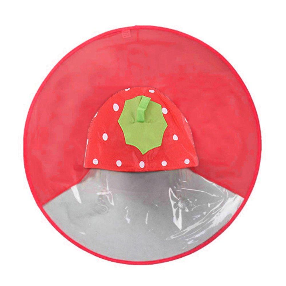 LQQSTORE Impermeabile Poncho per bambini, bambini carina piccolo Anatra UFO Shape Copricapo Impermeabile Portable Mani libere Ombrello Cappa impermeabile, peso leggero