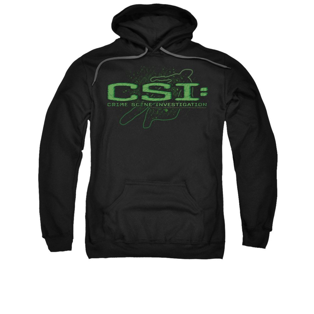 2Bhip Csi tv show cbs kreide umriss logo hoodie für Herren