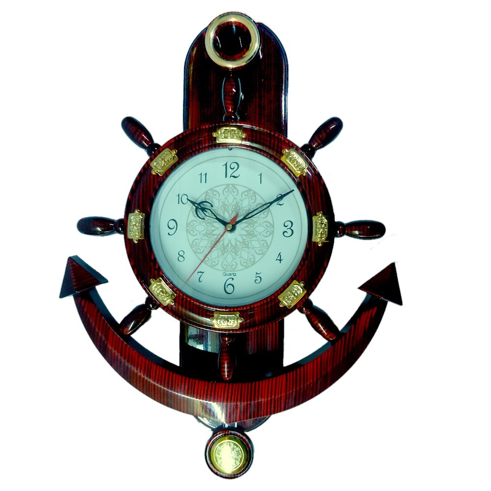 Buy abee fancy decorative anchor wall clock online at low prices buy abee fancy decorative anchor wall clock online at low prices in india amazon amipublicfo Images