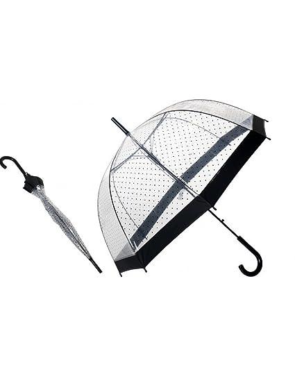 Home Line Paraguas Transparente Decorado