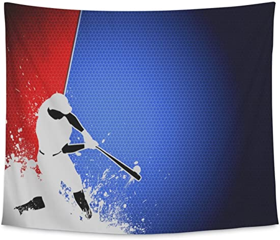 Gear New Wall Tapestry for Bedroom Hanging Art Decor College Dorm Bohemian, Baseball, Large, 104 inches Wide by 88 inches Tall