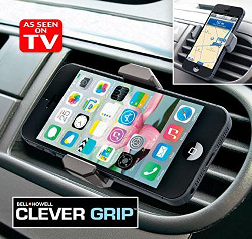 BellHowell 9434 Clever Grip Air Vent Portable easy phone mount good for all smart phones