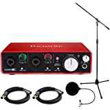 Focusrite Scarlett USB Audio Interface (2nd Generation) includes Bonus Technical Pro Tripod Stand and More