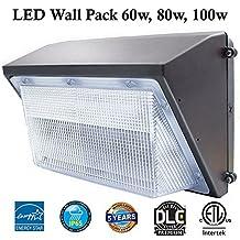 LED Wall Pack Daylight: 5000k Daylight 60w, 7250 lm, Bronze, Life Span 50000hrs, ETL Certified, 5 Years Warranty, Led wall pack light outdoor: Led Wall Pack Warm White, Led Wall Pack Light White