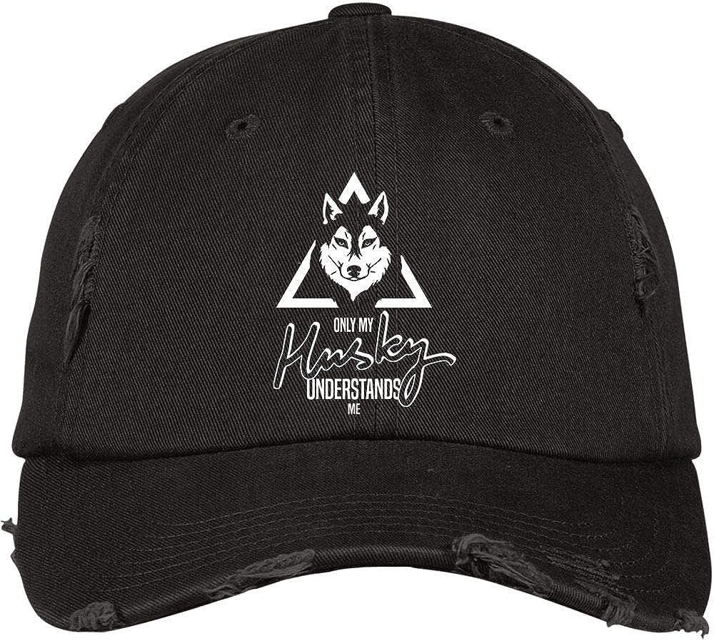 My Cute Husky Hat I Love My Husky District Distressed Dad Cap