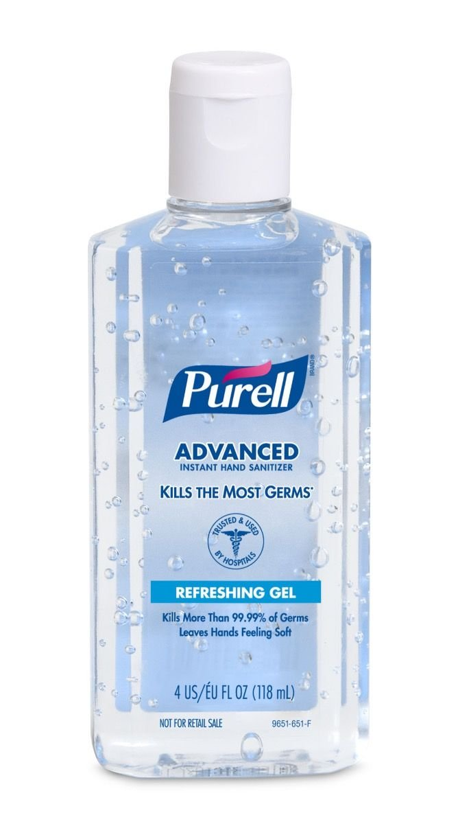 Amazon Com Purell Advanced Formula Hand Sanitizer Gel 4 Oz Filp