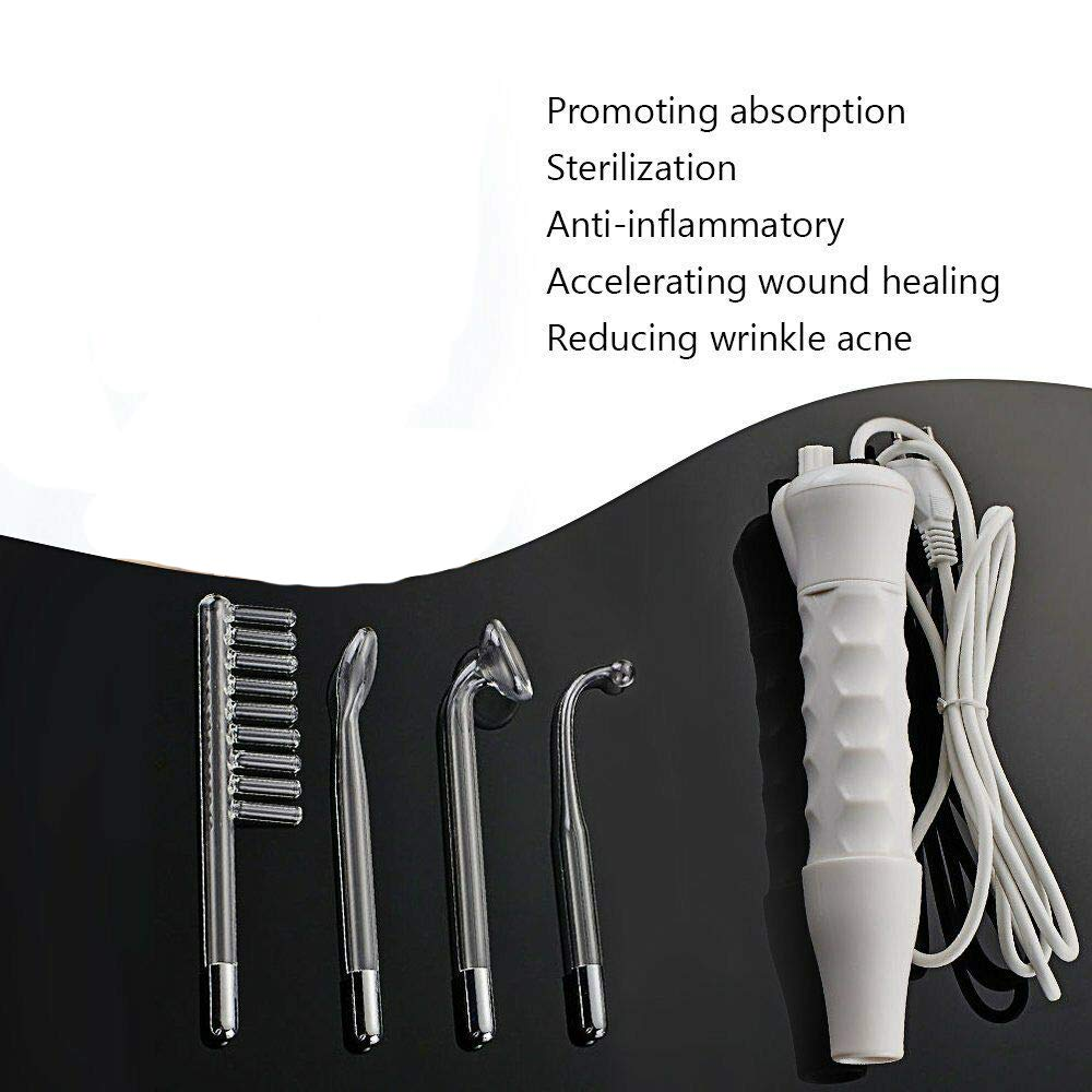 Portable High Frequency Facial Machine Wrinkle Beauty Device Skin Spot Remover (White)