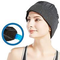 Migraine Relief Ice Pack Hat, Head Gel Ice Cap for Tension Headache Relief