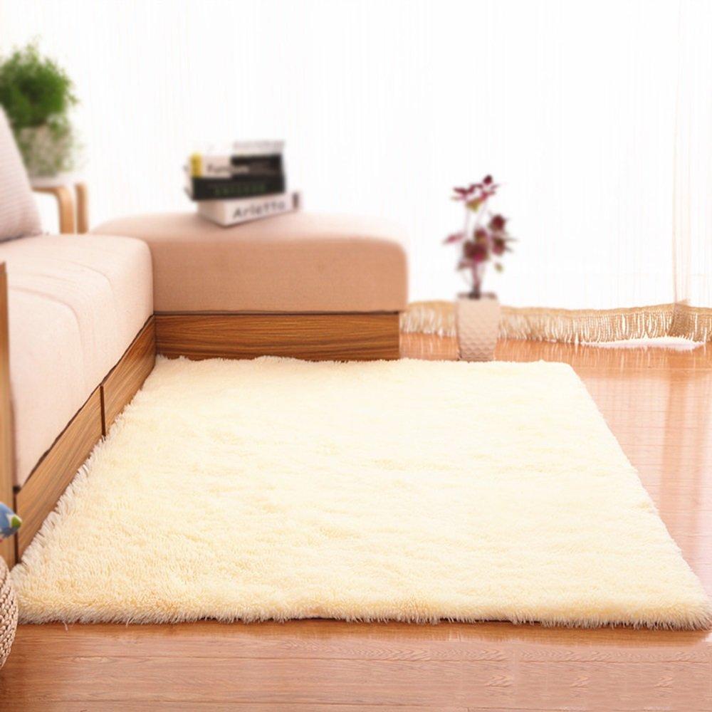 Beige Carpet / Living Room Sofa Coffee Table Bedroom Carpet / Bedside Blanket Length 4.5cm Home Decorative Solid Carpet ( Size : 160200cm )