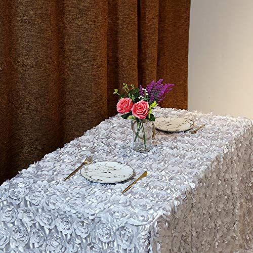 B-COOL Rosette Silver tablecloth 3d floral tablecloth 60