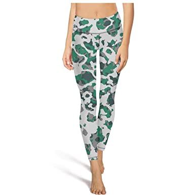 0b2a81bd2a8a3 PLOKINC Yogalicious Yoga Pants for Womens Air Force Leafy Camo High Waist Workout  Tights