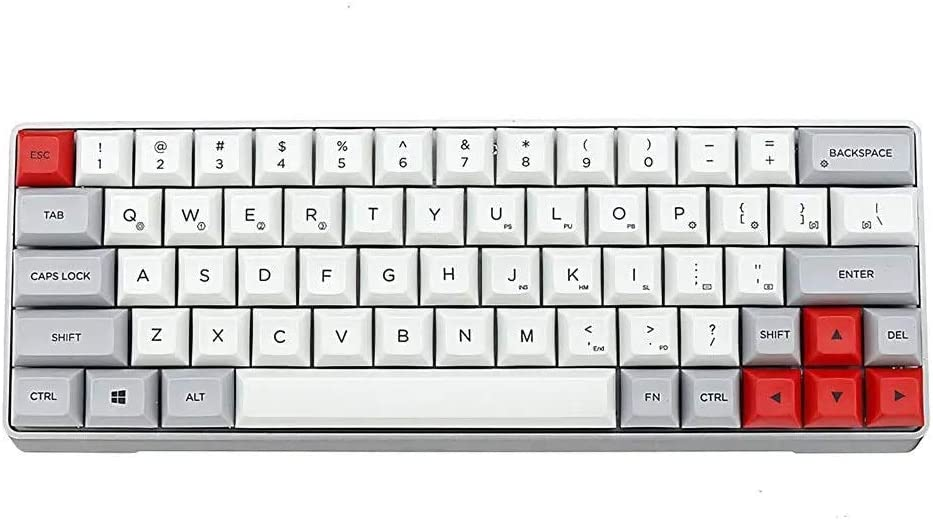 OUPPENG Keycap Desktop Mechanical Keyboard Swappable RGB Mechanical Keyboard Aluminum Alloy Case PBT Keycaps Gaming Keyboard for PC/Mac Gamer, Typist (Color : White, Size : Brown Switch) Office Mini G