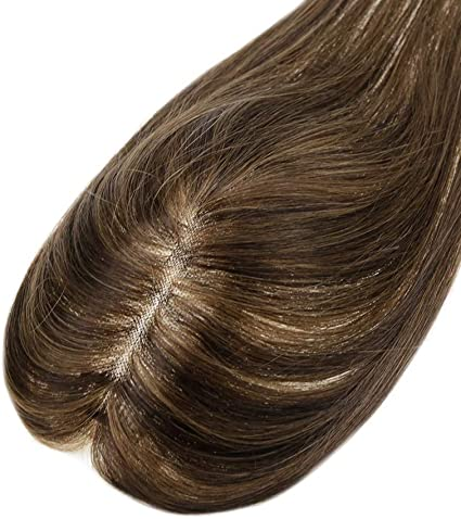 """LaaVoo 10"""" Hair Toppers para Mujeres Cabello Humano 100% Remy Clip ..."""