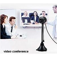 USB 2.0 HD Webcam Cinema para Chamadas e Gravações em Vídeo Widescreen PC Computador portátil Desktop (Black)