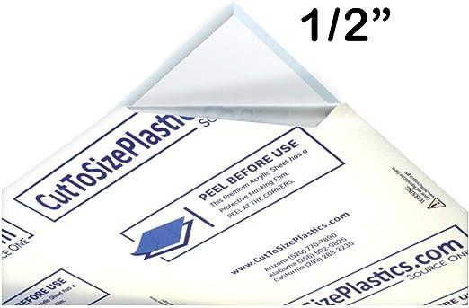 Amazon Com Sourceone 1 Sheet 1 2 Clear Acrylic Plexiglass Sheet Heavy Duty Home Kitchen